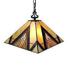 Amora Lighting Tiffany 2-Light Brown Tan Hanging Pendant