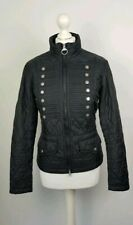 L548 WOMENS BARBOUR FLYWEIGHT BRIGADE BLACK QUILTED JACKET- UK 12