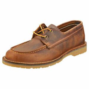 Red Wing Wacouta Camp Moc Homme Copper Cuir Chaussures Classique