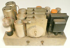 vintage COMMANDER RADIO 1931 SERIES S. JR 55110 part: CHASSIS w/ 6 working TUBES