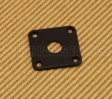 AP-0633-023 Square Jack Plate For Les Paul® Guitar/Bass - Black Plastic