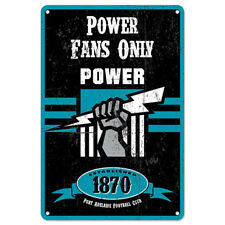 Official AFL Port Adelaide Power Obey The Rules Retro Metal Sign Decoration