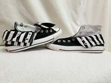 CONVERSE ALL STAR BLACK SIZE 7 FOLD DOWN DOUBLE TONGUE HIGH TOP BLACK & WHITE...