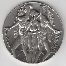"ISRAEL 1978 SALVADOR DALI ""PEACE"" PRIVATE MEDAL 100g PURE SILVER 59mm + COA"