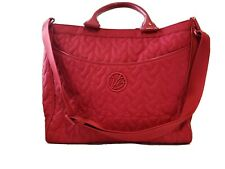 Vera Bradley Red laptop briefcase, ex large, limited edition, looks new