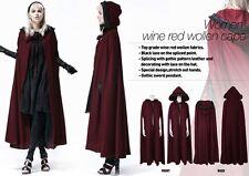goth lolita cosplay thriller fairy tale blood red riding hood parka cloak Y547