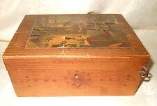 Scatola legno Insbruck Oleografia scena d'iterno Wood Box (SGR1) ^