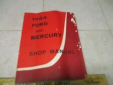 VTG 1965 Ford Mercury Shop Manual Service Repair OEM Guide Car Book