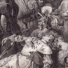 Gravure Bataille de Ravenne Rinascimento Battaglia di Ravenna Gaston de Foix