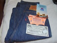 Nos Women Unisex Made in Usa, 1984 Levi's 501 Shrink to Fit Raw Denim, 31 x 34