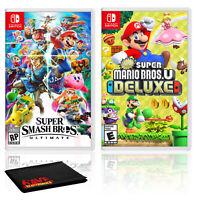 Nintendo Super Smash Bros. Ultimate Bundle with New Super Mario Bros. U Deluxe