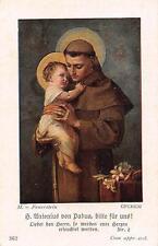 "Fleißbildchen Heiligenbild Gebetbild Holy card Ars sacra""H2258""  St. Antonius"