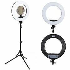 18 inch LED ring Light 48W Smartphone adapter and light stand Bundle