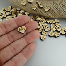 Love Tabletop Heart Confetti Engraved Wood Pack of 100 Wedding Decor Party Table