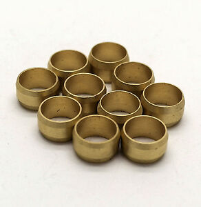 NEW 42mm compression Brass olives pack of 10, plumbing, DIY, water, UK seller