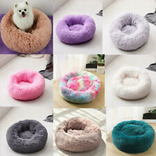 Pet Medium Small Luxury Shag Warm Fluffy Bed Dog Puppy Kitten Fur Donut Mat D1