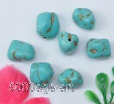 Wholesale 40pcs Turquoise Freeform Nugget Loose Beads