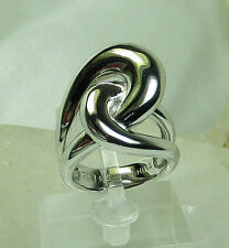 HSN Bold Contemporary 925 Sterling Silver Cross Over Swirl Design Ring SZ 6 New