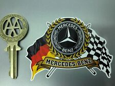 MERCEDES BENZ Flags & Scroll old style car sticker