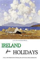 Irlanda para vacaciones-Connemara-Paul Henry viaje A3 arte cartel impresión