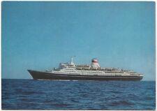 """1972 Postcard CRUISE SHIP """"TARAS SHEVCHENKO"""" ODESSA BLACK SEA SHIPPING CO USSR"""