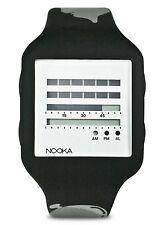 Nooka x MTV Music Black Silver Zub Zen-H 20mm Digital TDF LCD Watch New in Box