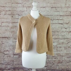 Max Mara Cardigan Shrug Cardigan Jacket Cotton Silk Blend Knit Size S