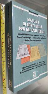 GG LIBRO: MANUALE DI CONTABILITA' PER GLI ENTI LOCALI - MAURO BELLESIA - ED. CEL