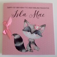 Personalised Cute 1st Birthday Card Daughter Granddaughter Niece 2nd 3rd 4th 5th