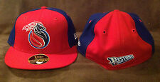 Detroit Pistons NEW ERA 59FIFTY Fitted Hat NBA Red/Blue Throwback Logo 7 1/2