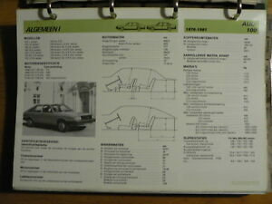 AUDI 100 1976-81 INFO TECHNICAL INFORMATION CAR AUTO  OLYOO7