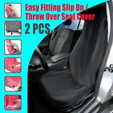 New Throw Over Slip On Car Seat Cover Polyester Car Interior Accessories 2pcs
