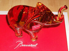 New Genuine Baccarat Amber Crystal Elephant Rare Limited Edition collectable