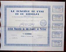 La Foncière de l'Est & du Littoral Action Nouvelle de 100 francs au porteur 1937