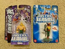 Dc Super Heroes Action Figures: Metal Collection Aquaman! Hawkgirl! Sealed!
