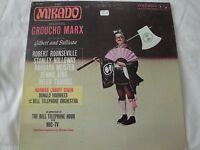 THE MIKADO STARRING GROUCHO MARX VINYL LP BY GILBERT & SULLIVAN ROUNSEVILLE EX