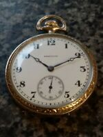 Hamilton 920 12s 23j 1921 14k WG Filled Pocket Watch Extremely Good Condition