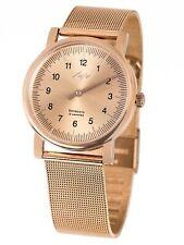 Single Hand MEN Stainless Steel Watch LUCH. Sapphire. Mechanical. Milan Weaving