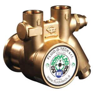 "FLUID-O-TECH PA 301X Pump,3/8"" NPTF,111 Max. GPH,BR,70 Mesh"