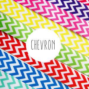 2 Metres - 22mm wide Chevron Ribbon