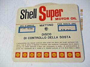 Diskothek Stundenplan Pubbl. Shell Super Motor Oil Original Jahre 60