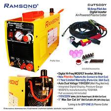 CUT50 50 Amp Pilot Arc Digital Inverter Air Powered Plasma Cutter w Kit 115/230V