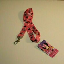 Disney Minnie Mouse 18 Lanyard Key Ring Pink Bowtique 3 RA