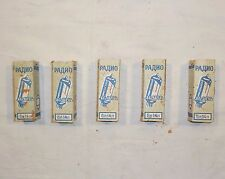 VINTAGE LOT 5 TUBE LAMP 6P14P REFLECTOR MILLITARY PENTODE TUBES * NOS * TESTED *
