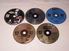 Playstation 1 - Lot Of 5 Wrestling Games - Nitro, NWO Thunder, Mayhem, War Zone