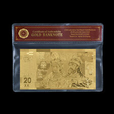 WR Poland 20 Zlotych Anniversary of Polish Baptism Gold Banknote Commemorative