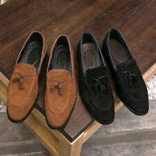 MEN'S CHIC TRENDY LOAFER SUEDE OXFORDS WITH TASSELS