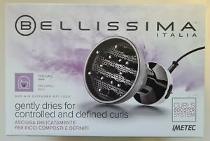 New BELLISSIMA DIFFON HOT AIR DIFFUSER DF1 1000 For Curly Hair 700W 2 Air Temp
