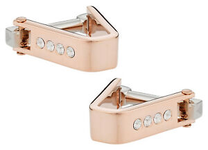 Crystal Cufflinks Rose Gold Direct from Cuff-Daddy