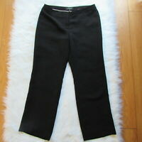 Talbots 10 Womens Dress Pants Solid Black Career Stretch Trousers Casual